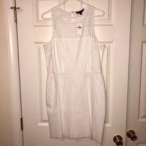 NWT! Banana Republic White Eyelet Dress, Size 10